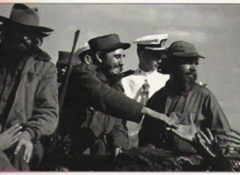 Camilo Cienfuegos, Fidel Castro, y Huber Matos, La Habana, 1959.